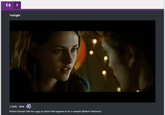 All 4 - live streaming Twilight on E4