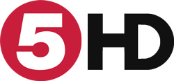 Red Channel 5 HD logo on a white background