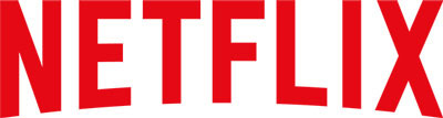 Red Netflix logo on white background