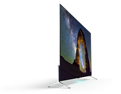 A side profile of the Sony BRAVIA KD-65X9000C 4K TV