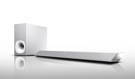 The Sony HT-CT381 Sound Bar in silver