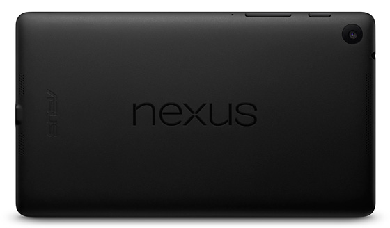 The Nexus 7 2013 - Back view