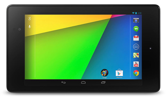 The Nexus 7 2013 - Landscape view